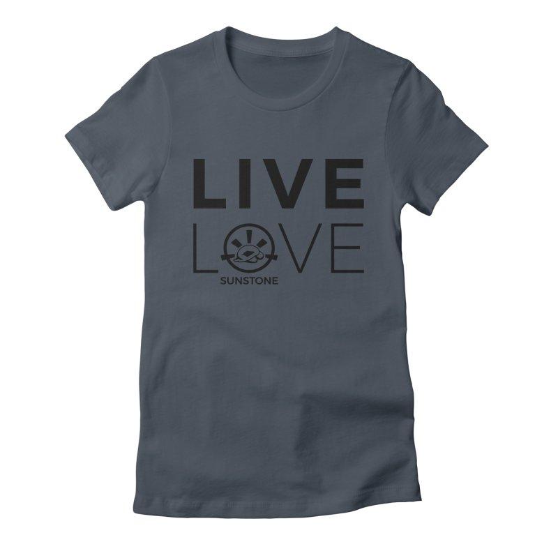 Live Love - Black Ink Women's T-Shirt by sunstoneFIT's Shop