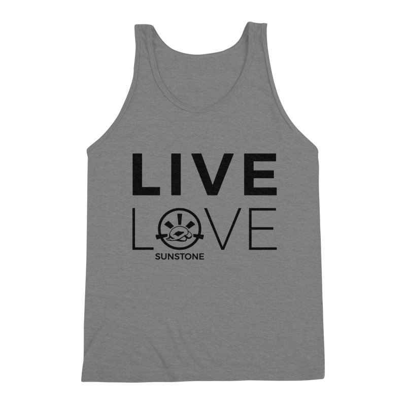 Live Love - Black Ink Men's Tank by sunstoneFIT's Shop