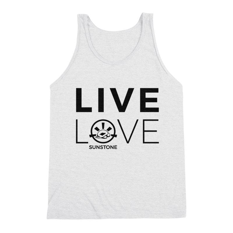 Live Love - Black Ink Men's Triblend Tank by sunstoneFIT's Shop