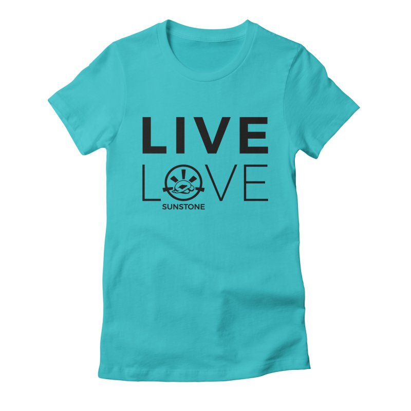 Live Love - Black Ink Women's Fitted T-Shirt by sunstoneFIT's Shop