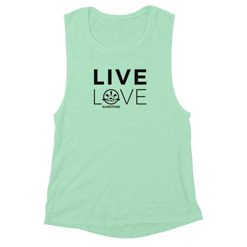 Live Love - Black Ink in Women's Muscle Tank Mint by sunstoneFIT's Shop