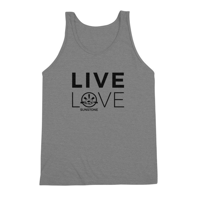 Live Love - Black Ink in Men's Triblend Tank Grey Triblend by sunstoneFIT's Shop