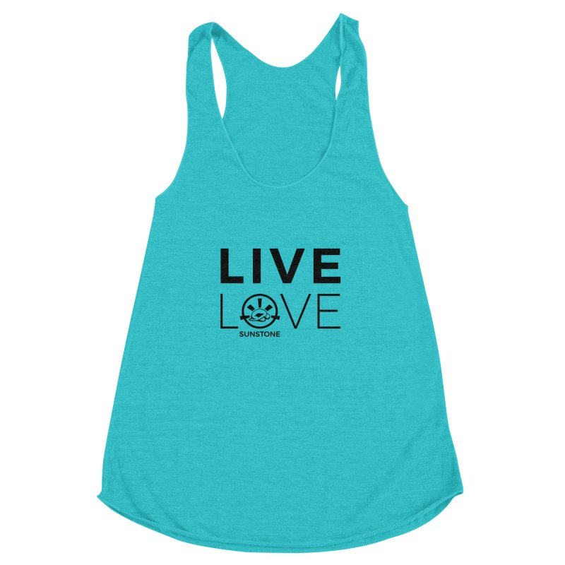 Live Love - Black Ink Women's Racerback Triblend Tank by sunstoneFIT's Shop