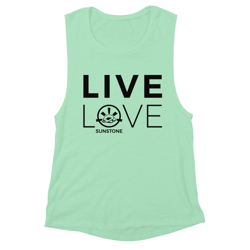 Live Love - Black Ink Women's Muscle Tank by sunstoneFIT's Shop
