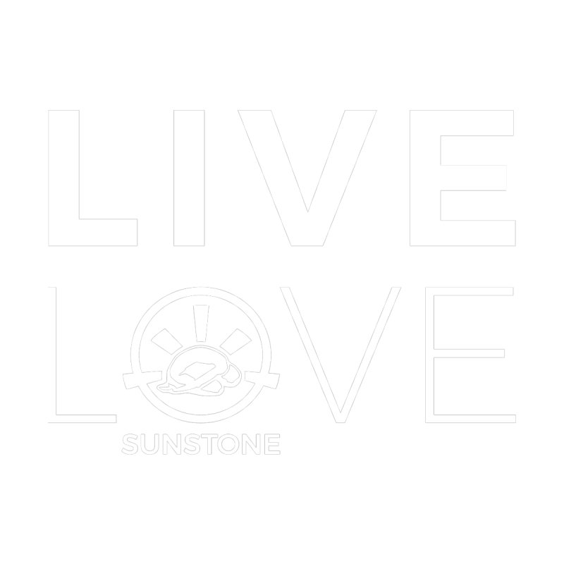 Live Love - White Ink by sunstoneFIT's Shop