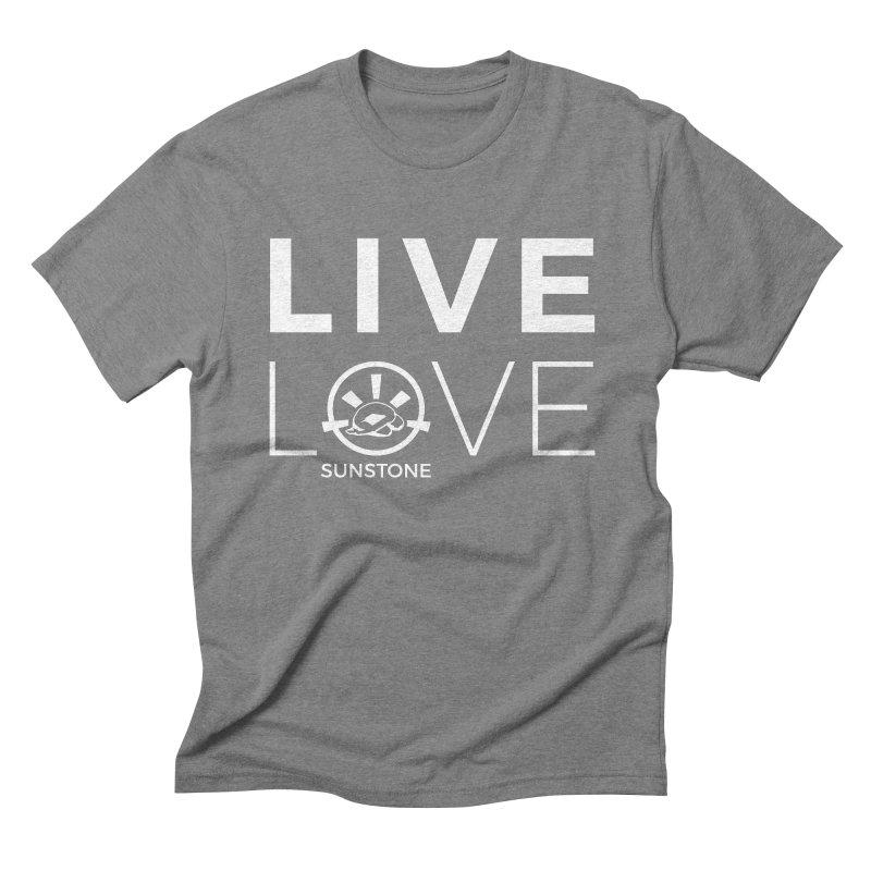 Live Love - White Ink Men's T-Shirt by sunstoneFIT's Shop