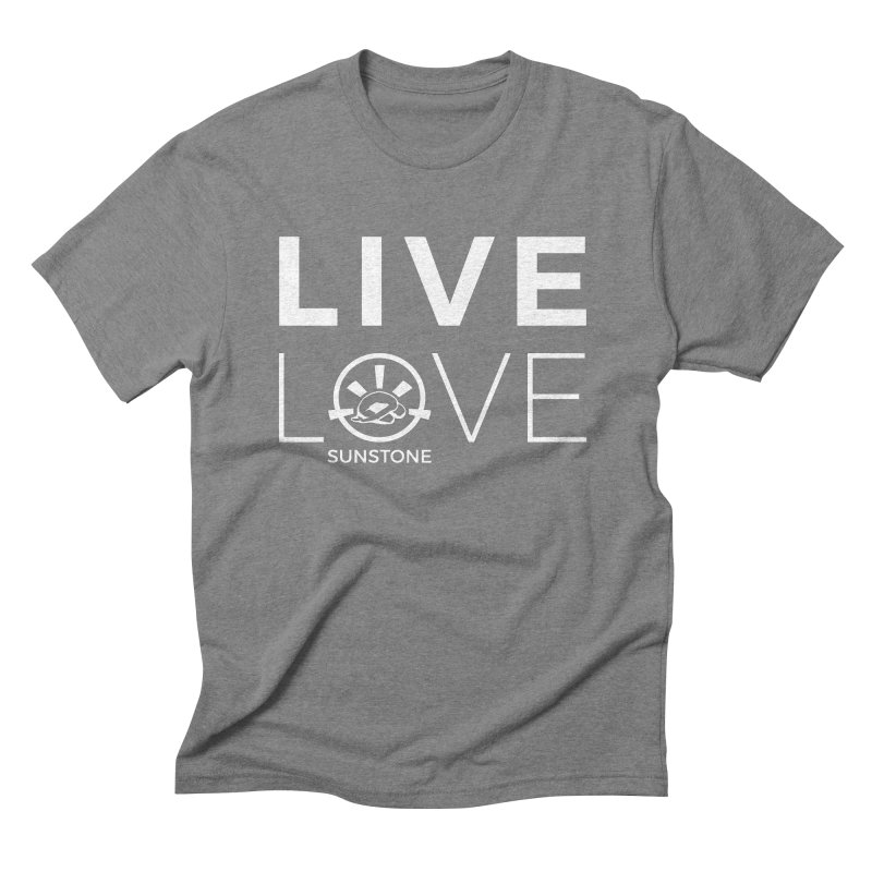 Live Love - White Ink Men's Triblend T-Shirt by sunstoneFIT's Shop