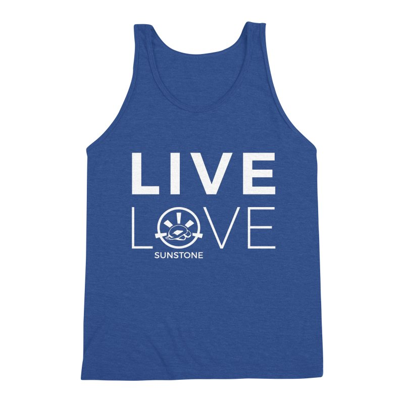 Live Love - White Ink Men's Triblend Tank by sunstoneFIT's Shop