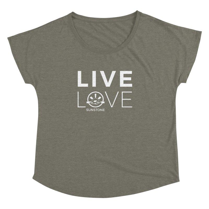 Live Love - White Ink Women's Dolman Scoop Neck by sunstoneFIT's Shop