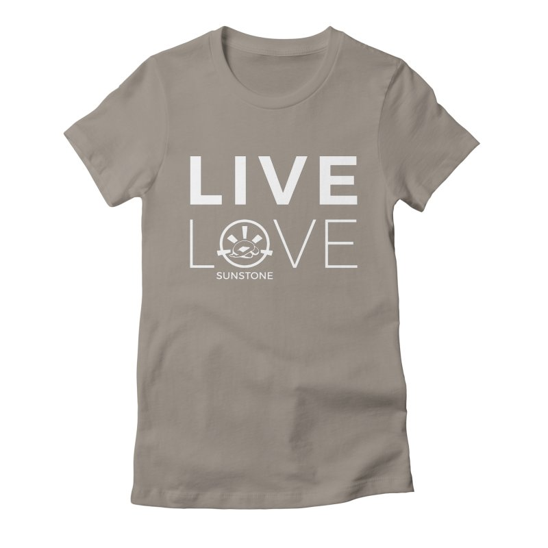 Live Love - White Ink Women's Fitted T-Shirt by sunstoneFIT's Shop