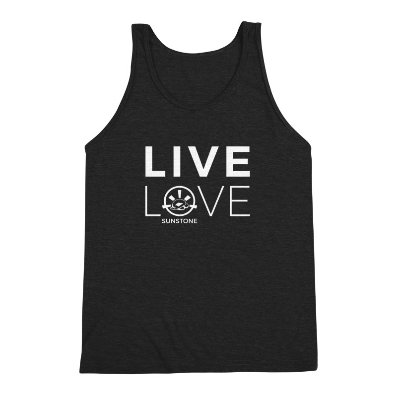 Live Love - White Ink Men's Triblend Tank by sunstoneFIT's Shop