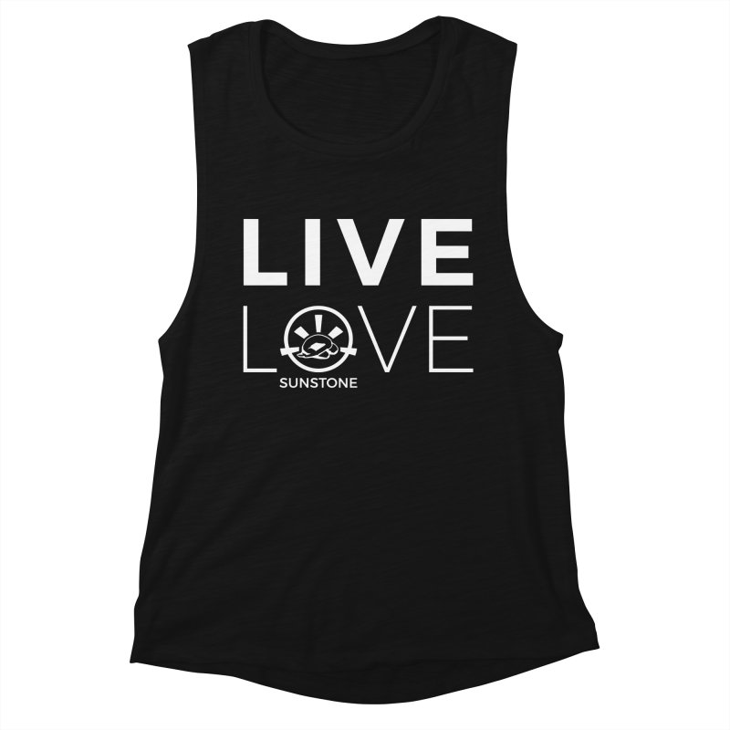 Live Love - White Ink Women's Muscle Tank by sunstoneFIT's Shop