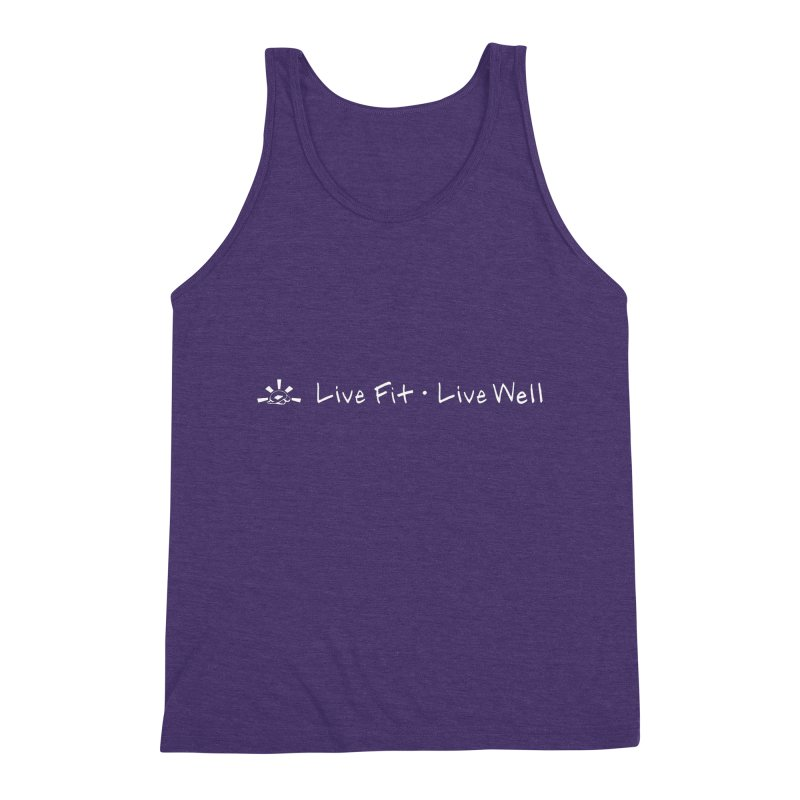 Live Fit Live Well - White Ink Men's Tank by sunstoneFIT's Shop
