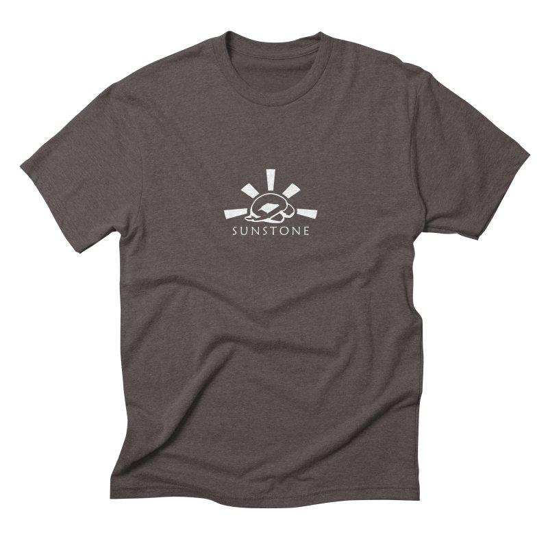 Sunstone Logo - white ink Men's T-Shirt by sunstoneFIT's Shop