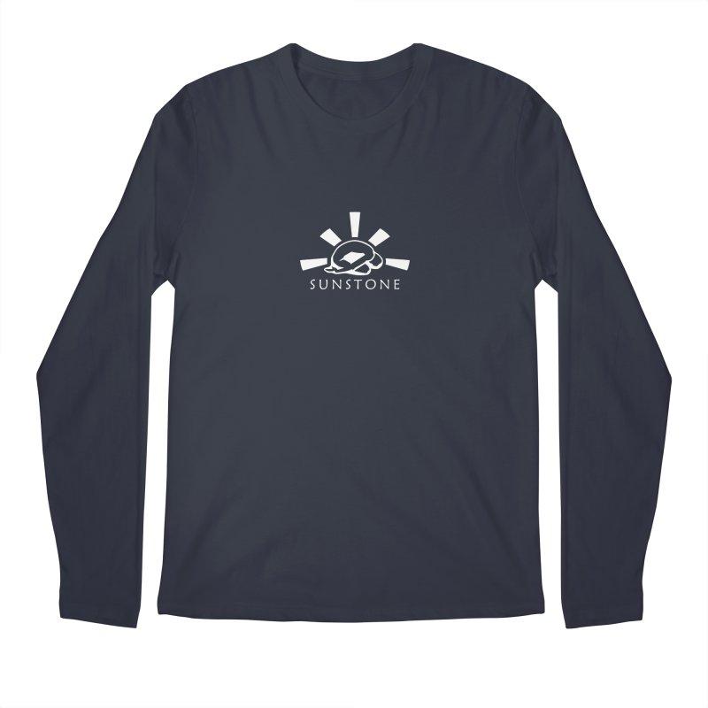 Sunstone Logo - white ink Men's Regular Longsleeve T-Shirt by sunstoneFIT's Shop