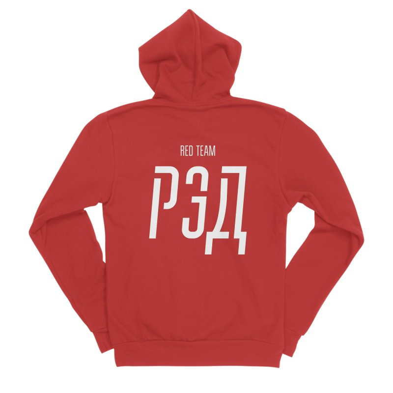 РЭД / RED Women's Sponge Fleece Zip-Up Hoody by СУПЕР* / SUPER*