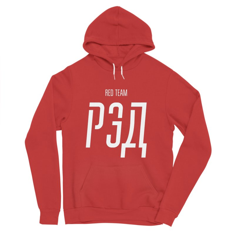 РЭД / RED Women's Sponge Fleece Pullover Hoody by СУПЕР* / SUPER*