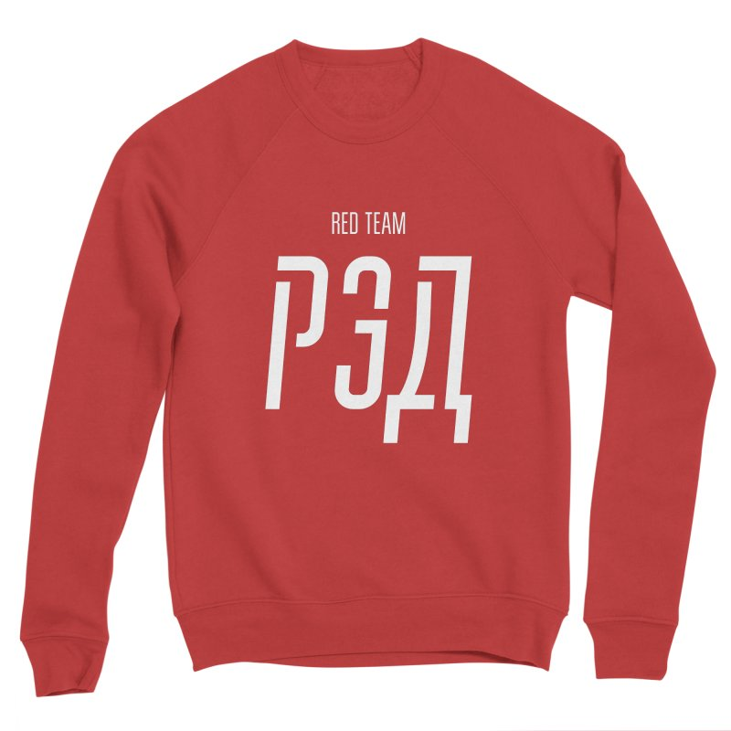 РЭД / RED Men's Sponge Fleece Sweatshirt by СУПЕР* / SUPER*