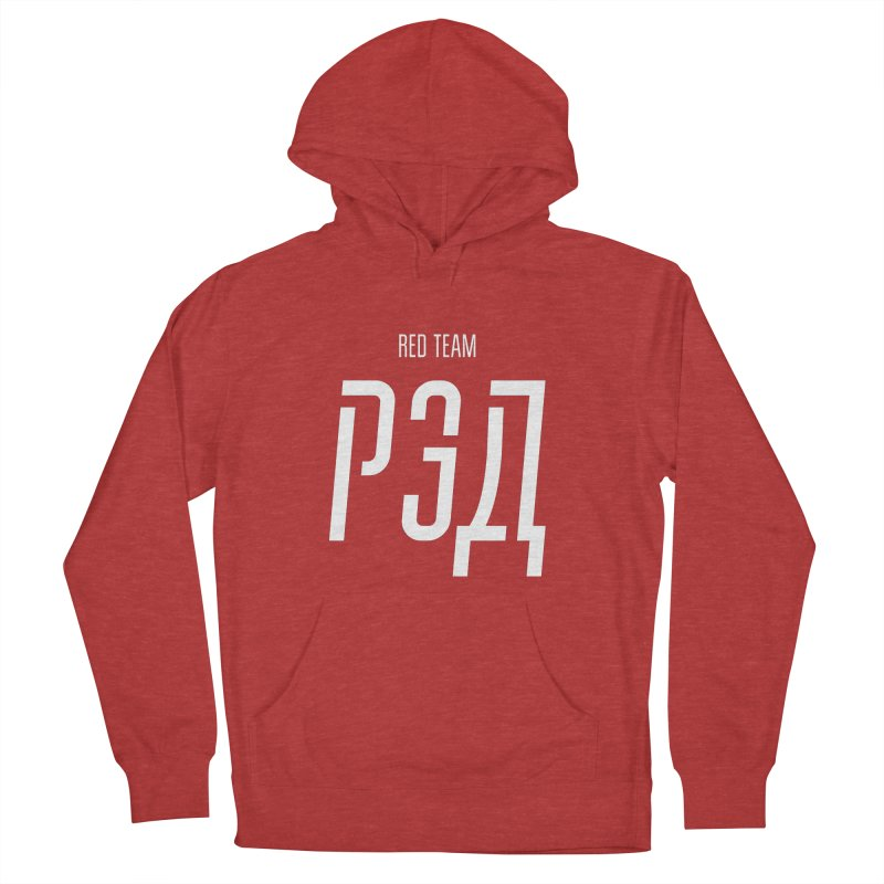 РЭД / RED Women's French Terry Pullover Hoody by СУПЕР* / SUPER*