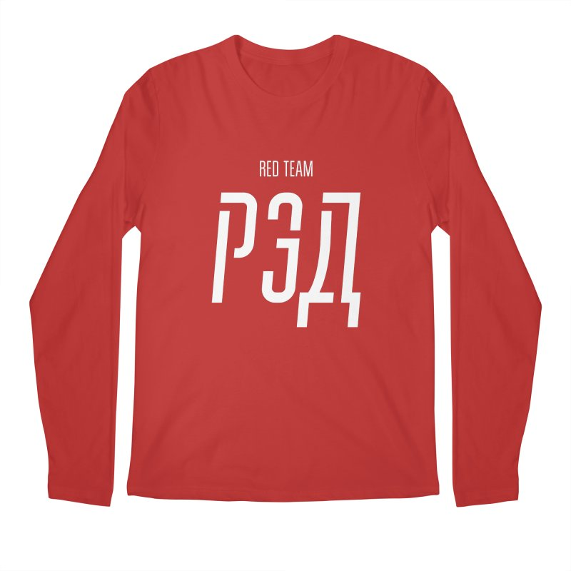 РЭД / RED Men's Regular Longsleeve T-Shirt by СУПЕР* / SUPER*