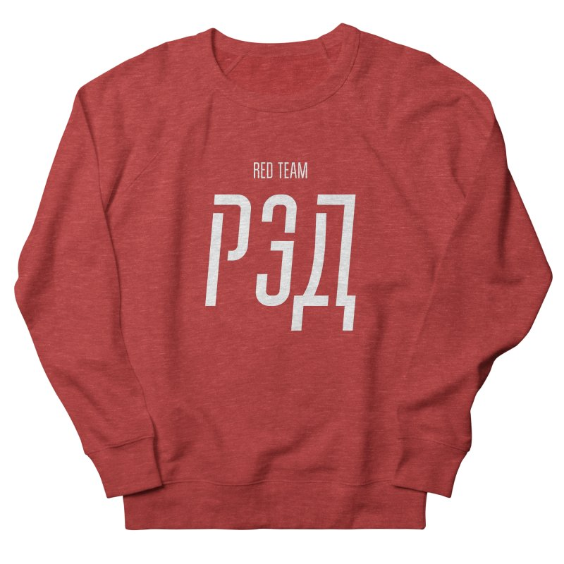 РЭД / RED Women's French Terry Sweatshirt by СУПЕР* / SUPER*