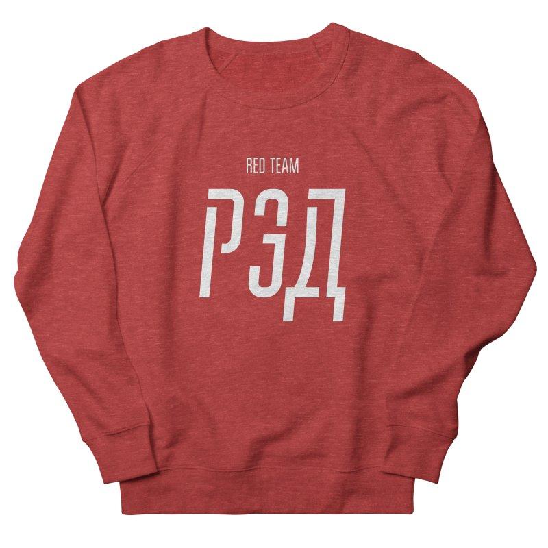 РЭД / RED Men's French Terry Sweatshirt by СУПЕР* / SUPER*
