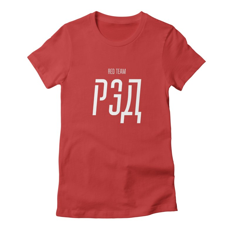 РЭД / RED Women's Fitted T-Shirt by СУПЕР* / SUPER*
