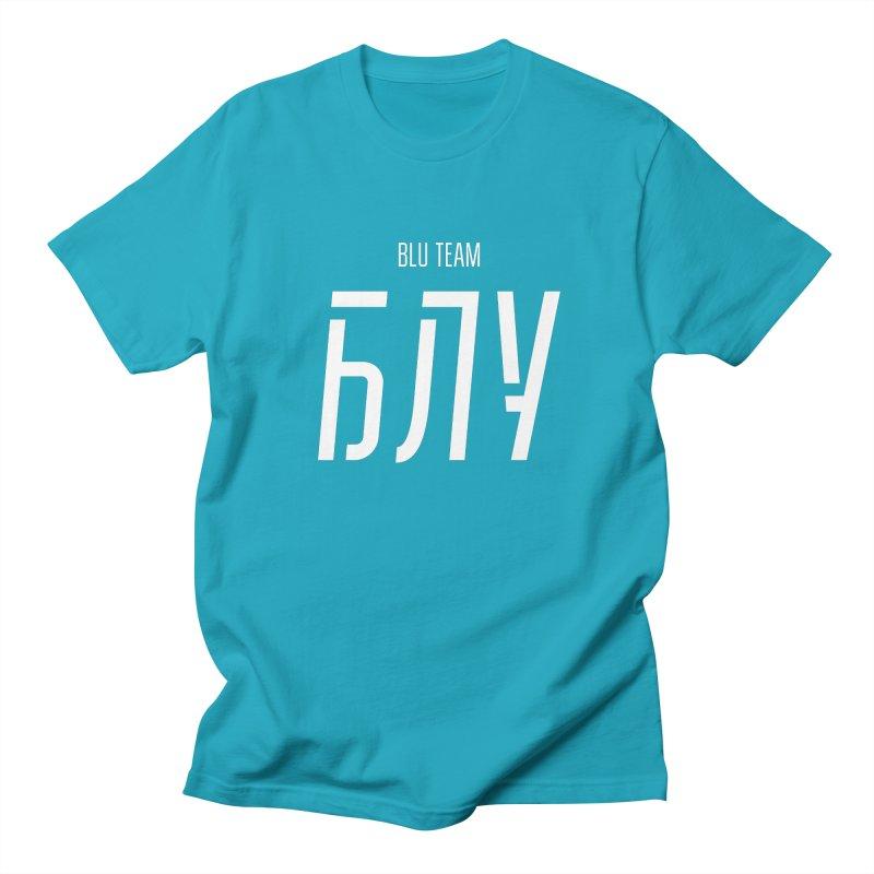 БЛУ / BLU in Men's Regular T-Shirt Cyan by СУПЕР* / SUPER*