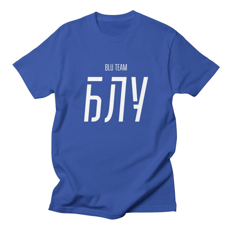 БЛУ / BLU Men's Regular T-Shirt by СУПЕР* / SUPER*