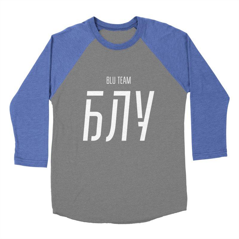 БЛУ / BLU Men's Baseball Triblend Longsleeve T-Shirt by СУПЕР* / SUPER*
