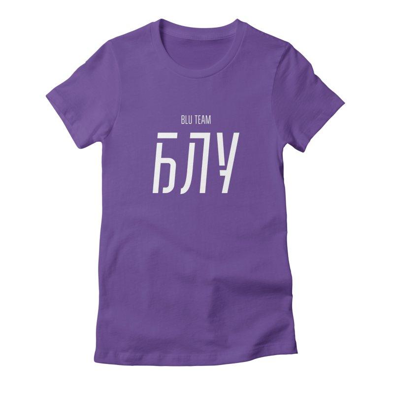БЛУ / BLU Women's Fitted T-Shirt by СУПЕР* / SUPER*