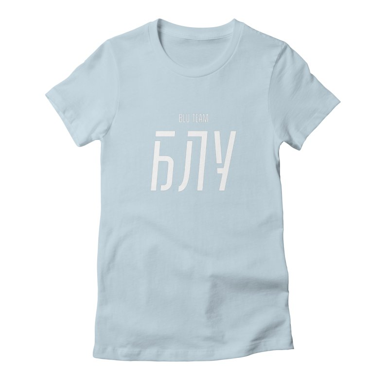 БЛУ / BLU Women's Fitted T-Shirt by СУПЕР* / SUPER*