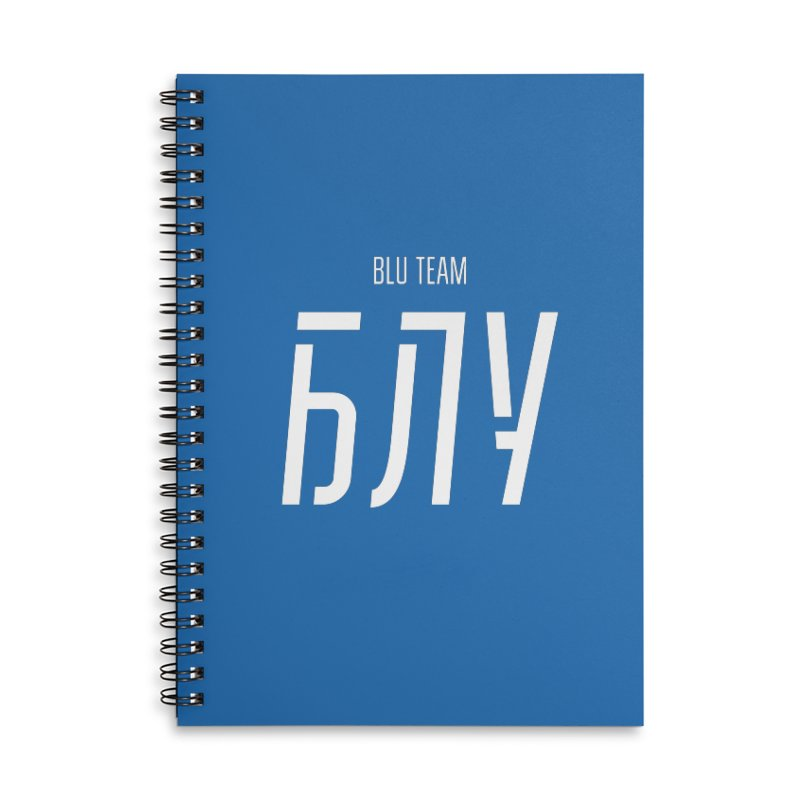 БЛУ / BLU Accessories Lined Spiral Notebook by СУПЕР* / SUPER*