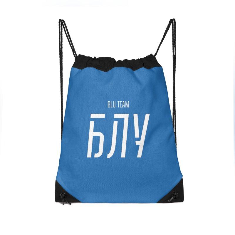 БЛУ / BLU Accessories Drawstring Bag Bag by СУПЕР* / SUPER*