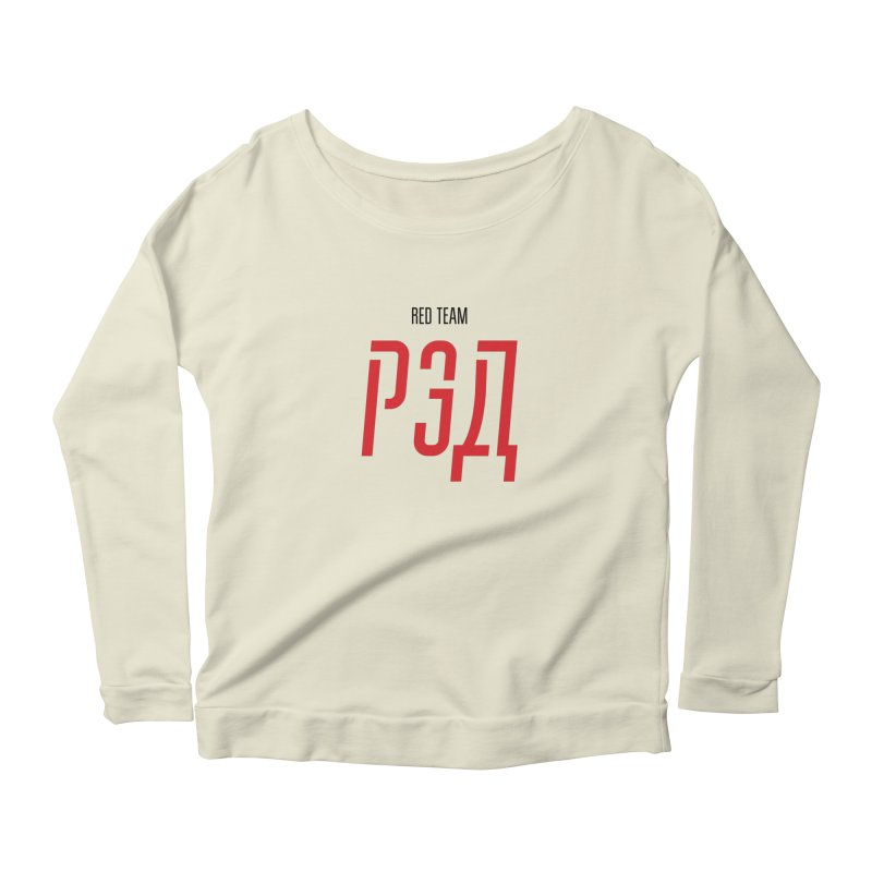 ЛАЙТ РЭД / LIGHT RED Women's Scoop Neck Longsleeve T-Shirt by СУПЕР* / SUPER*