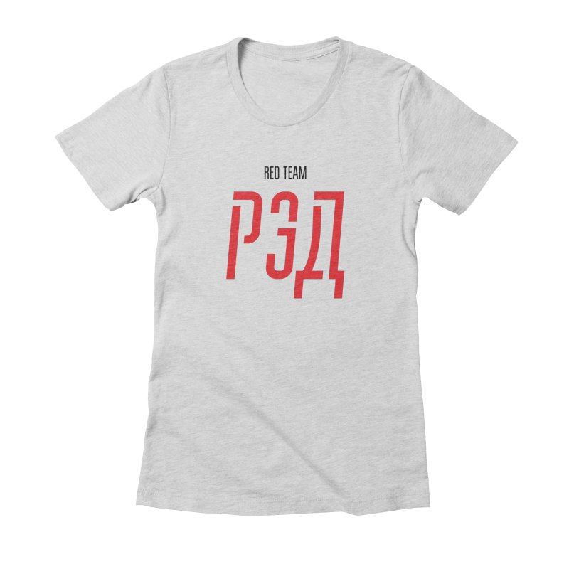 ЛАЙТ РЭД / LIGHT RED Women's Fitted T-Shirt by СУПЕР* / SUPER*
