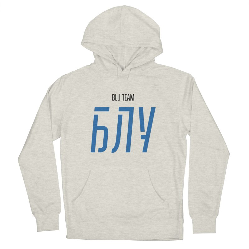 ЛАЙТ БЛУ / LIGHT BLU Men's French Terry Pullover Hoody by СУПЕР* / SUPER*