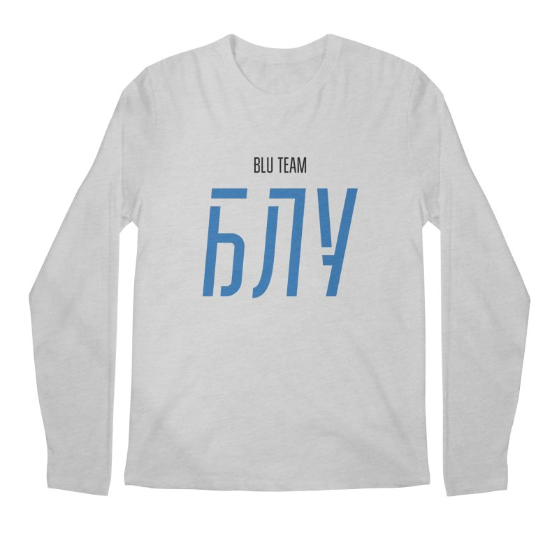 ЛАЙТ БЛУ / LIGHT BLU Men's Regular Longsleeve T-Shirt by СУПЕР* / SUPER*