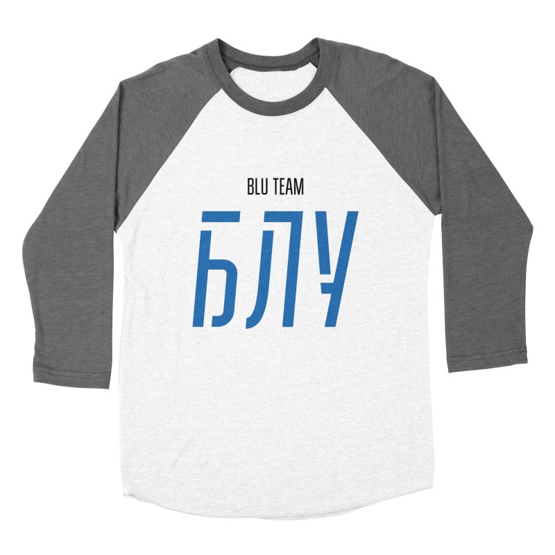 ЛАЙТ БЛУ / LIGHT BLU Men's Baseball Triblend Longsleeve T-Shirt by СУПЕР* / SUPER*