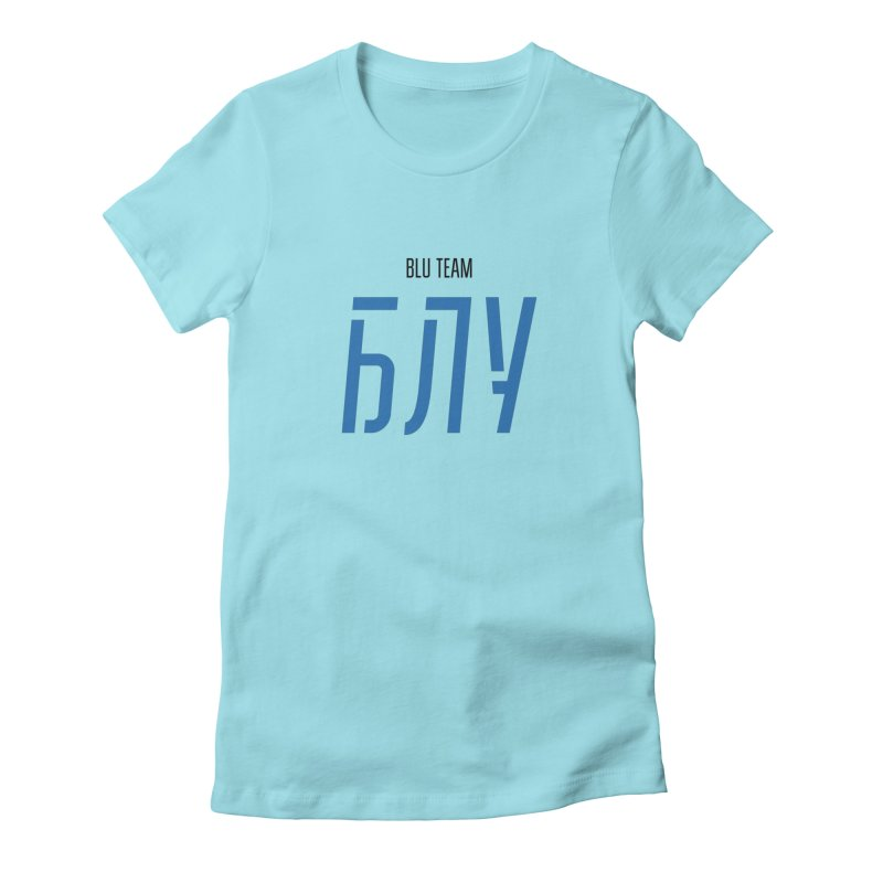 ЛАЙТ БЛУ / LIGHT BLU Women's Fitted T-Shirt by СУПЕР* / SUPER*