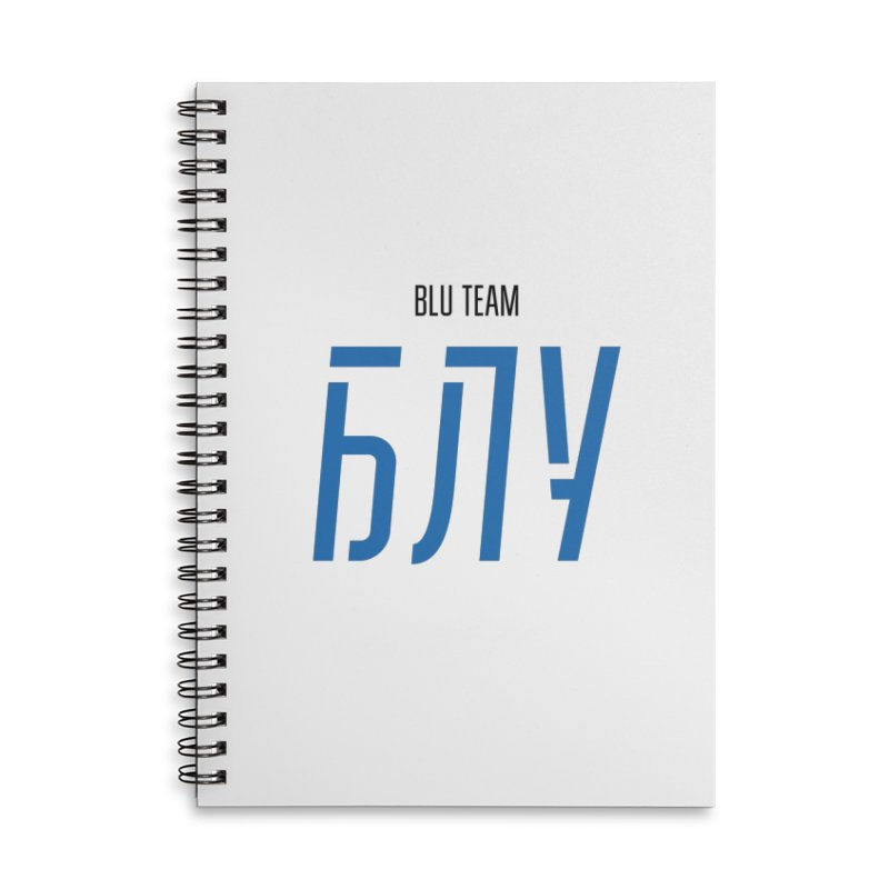ЛАЙТ БЛУ / LIGHT BLU Accessories Lined Spiral Notebook by СУПЕР* / SUPER*