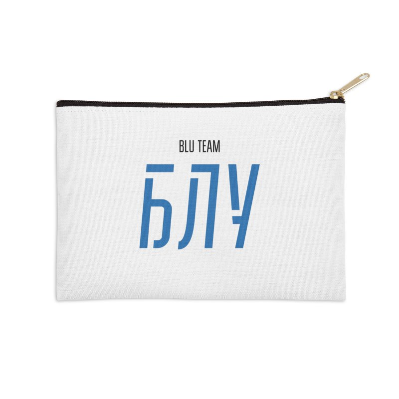 ЛАЙТ БЛУ / LIGHT BLU Accessories Zip Pouch by СУПЕР* / SUPER*