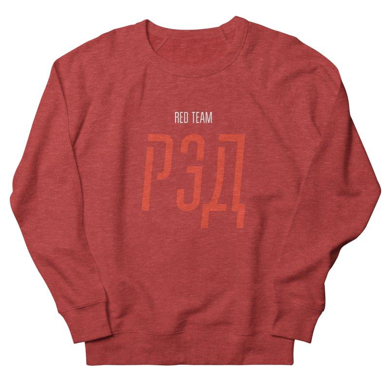 ДАРК РЭД / DARK RED Men's French Terry Sweatshirt by СУПЕР* / SUPER*
