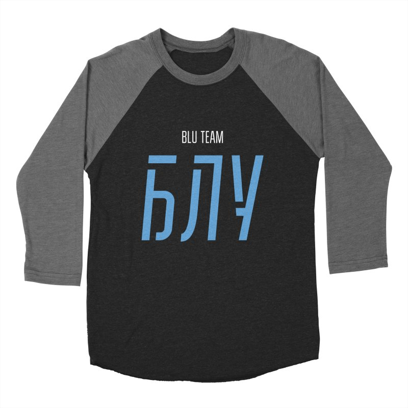 ДАРК БЛУ / DARK BLU Women's Baseball Triblend Longsleeve T-Shirt by СУПЕР* / SUPER*