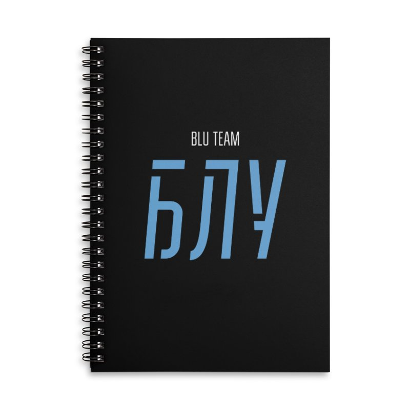 ДАРК БЛУ / DARK BLU Accessories Lined Spiral Notebook by СУПЕР* / SUPER*