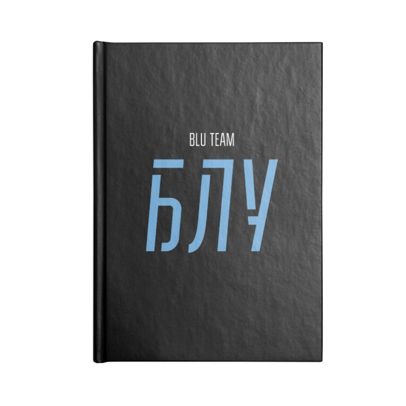 ДАРК БЛУ / DARK BLU Accessories Blank Journal Notebook by СУПЕР* / SUPER*