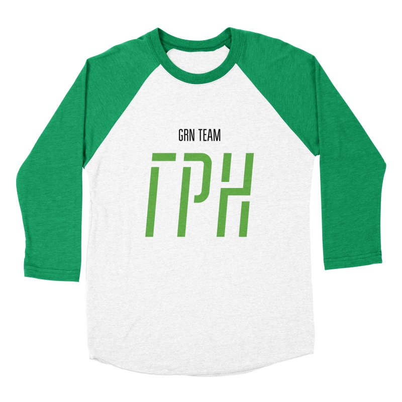 ЛАЙТ ГРН / LIGHT GRN Men's Baseball Triblend Longsleeve T-Shirt by СУПЕР* / SUPER*