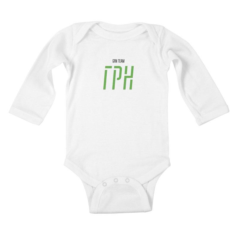 ЛАЙТ ГРН / LIGHT GRN Kids Baby Longsleeve Bodysuit by СУПЕР* / SUPER*