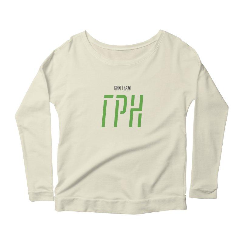 ЛАЙТ ГРН / LIGHT GRN Women's Scoop Neck Longsleeve T-Shirt by СУПЕР* / SUPER*