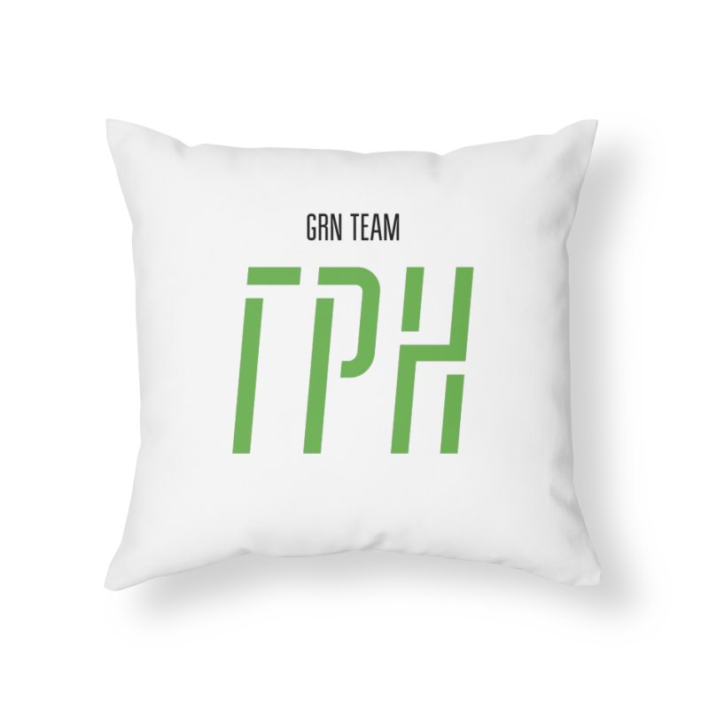 ЛАЙТ ГРН / LIGHT GRN Home Throw Pillow by СУПЕР* / SUPER*